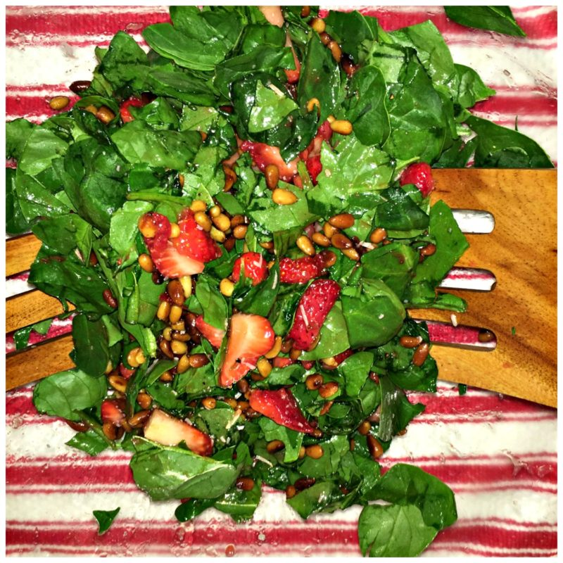 Spinach-Strawberry-Pine-Nuts-Salad