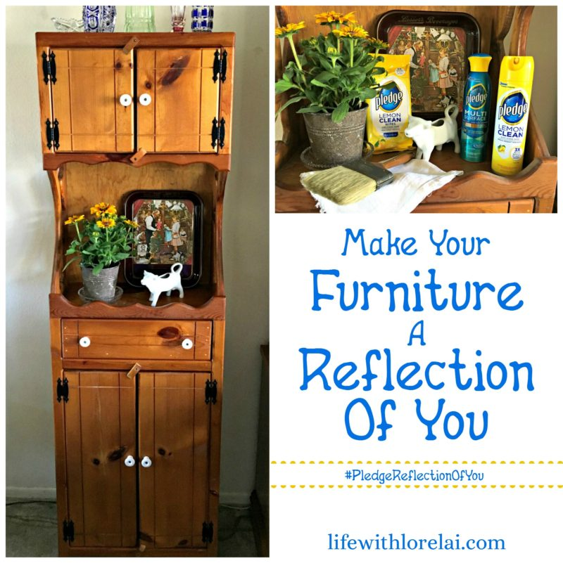 Furniture That Reflects You - Life With Lorelai. Celebrate your home as a reflection of you with Pledge®. #PledgeReflectionOfYou #furniture #home #clean AD