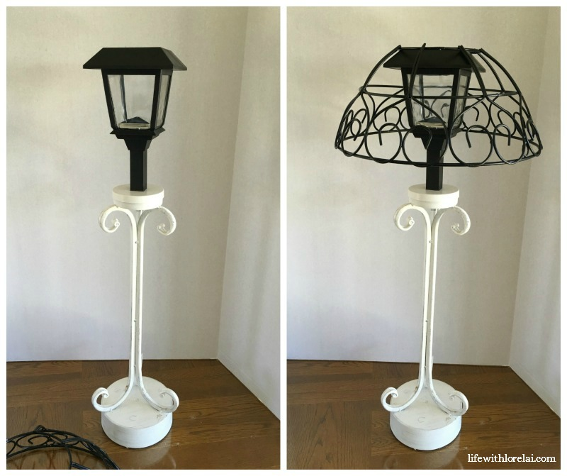 Solar Lamp DIY - Add style to your outdoor living with this easy DIY project. Light up your evenings on the patio. #SolarLamp #DIY #Lighting #OutdoorLiving