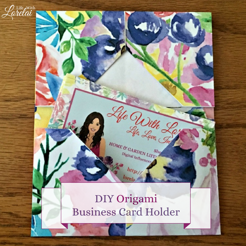 Origami Business Card Gift Card Holder Diy Life With Lorelai