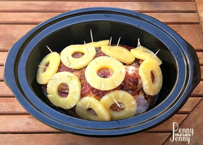 Easy Crock Pot Ham with Pineapple - Penny Pincher Jenny - HMLP 109 Feature