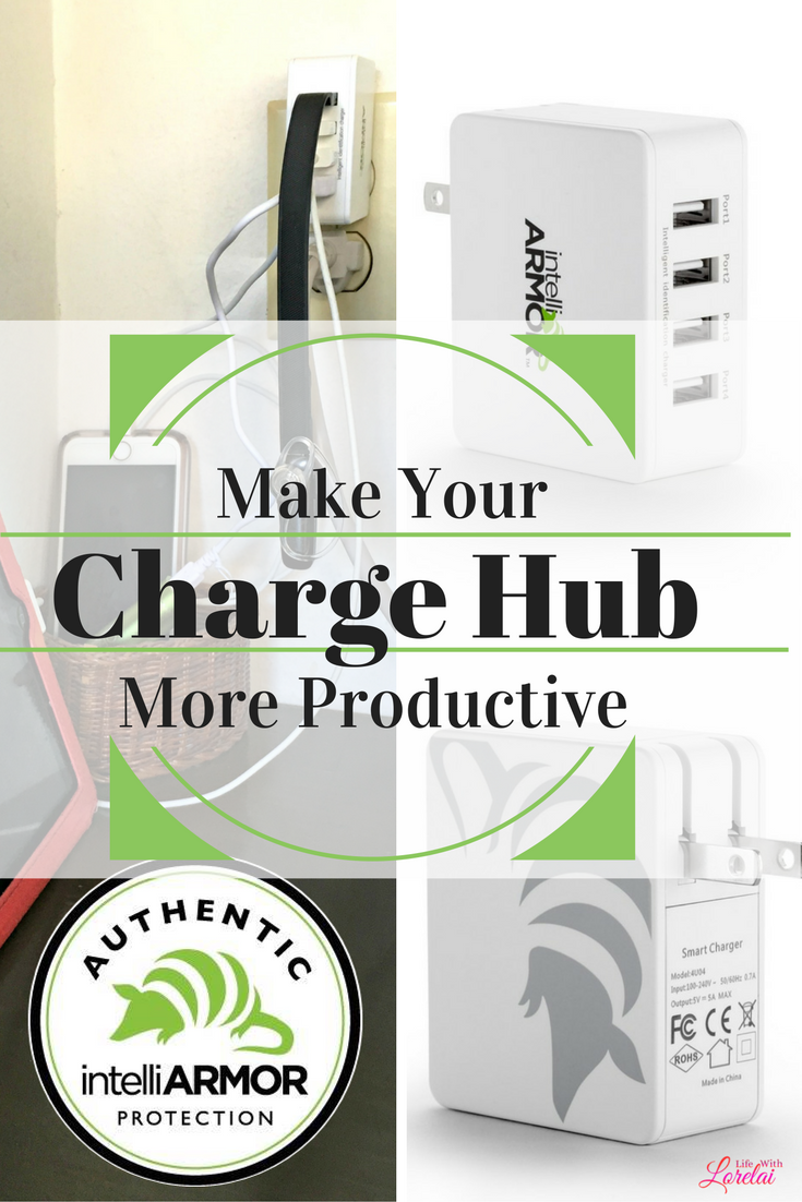 Need more outlets to charge your devices? Check out how I saved space and am charging multiple things at one time with IntelliArmor 4-port USB Charger.