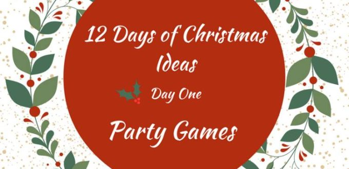 12 Hilarious Christmas Party Games - a round-up of fun for the holidays! Day one of the 12 Days of Christmas Ideas Blog Hop.