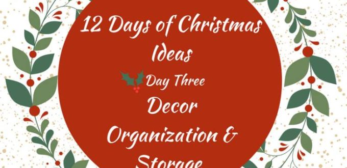 Get great storage solutions for your Christmas decorations.. 12 Days of Christmas Ideas Blog Hop has got loads of ideas for celebrating the holidays.