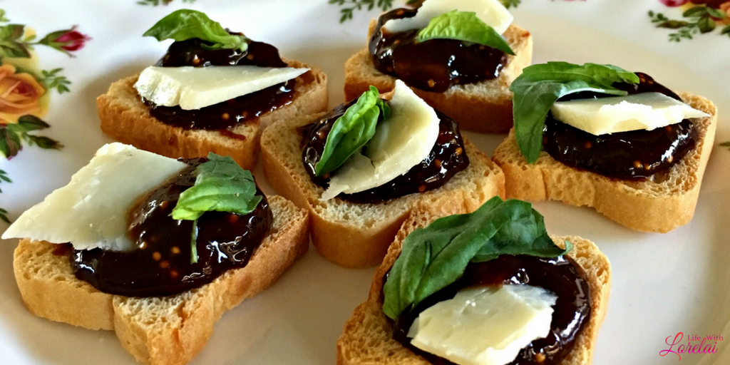 Cheese fig and basil hors d 39 oeuvre recipe life with for Hor d oeuvres recipes