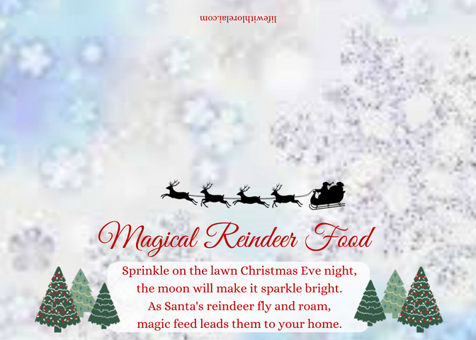 photo regarding Reindeer Food Poem Printable named Magical Reindeer Meals + Totally free Printable - Existence With Lorelai
