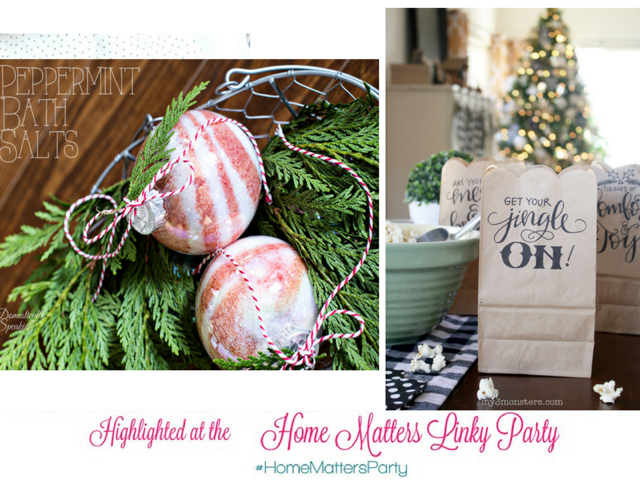 Come join the fun and link your blog posts at the Home Matters Linky Party 115. Find inspiration recipes, decor, crafts, organize -- Door Opens Friday EST.