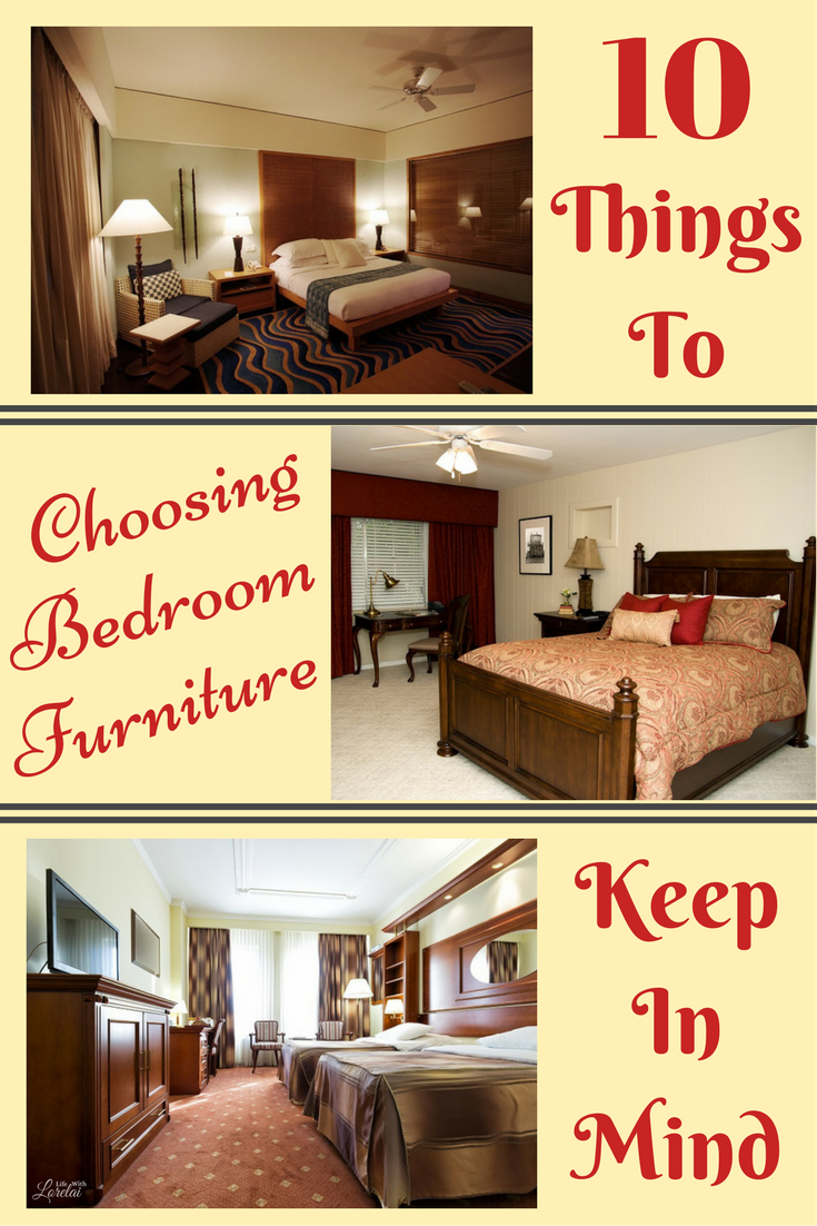 Find out what 10 things to consider when choosing your bedroom furniture. Your private space should be peaceful, comfortable, and cozy.
