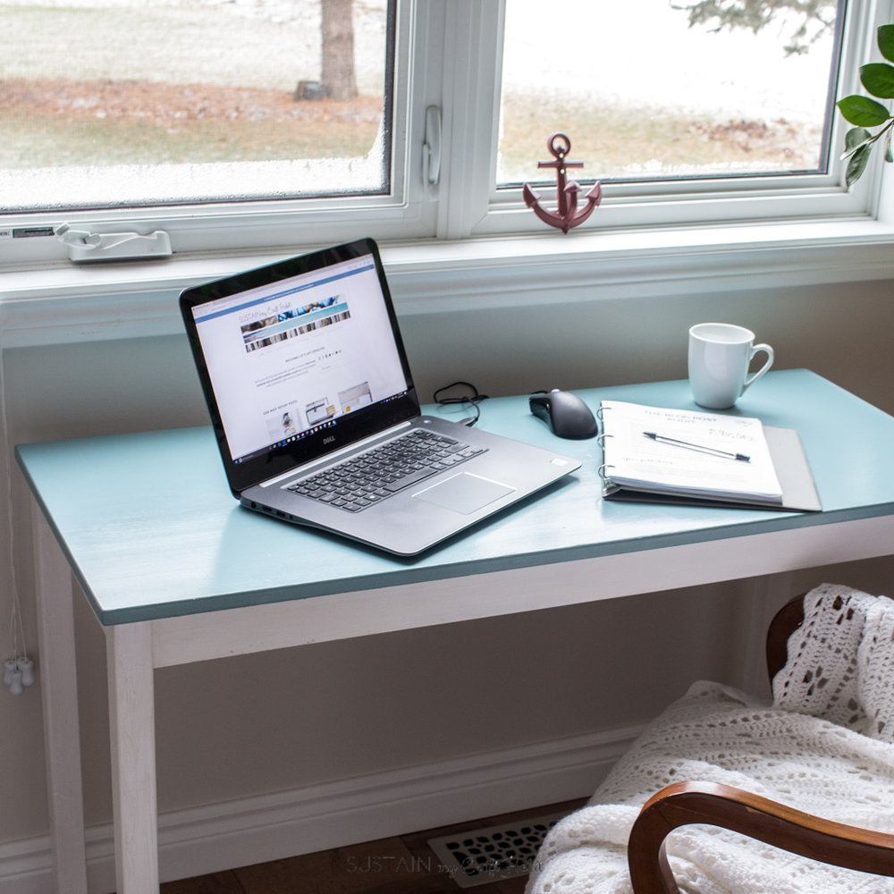 DIY Wood Console Table Makeover - Sustain My Craft Habit - HMLP 119 Feature