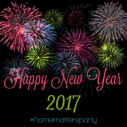 Happy New Year 2017 from the Home Matters Linky Party!