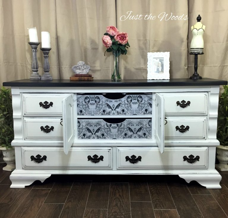 Vintage Painted Dresser with Surprise Drawers - Just The Woods - HMLP Feature 117