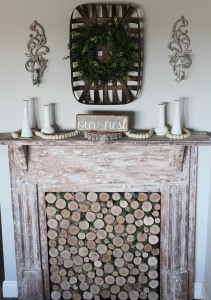 Creating An Antique Faux Fireplace Mantel - Repurpose and Upcycle - HMLP-121 Feature