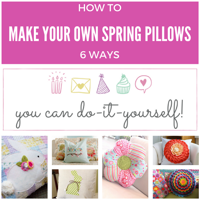 6 DIY Spring Pillows - Keeping It Real - HMLP Feature 125
