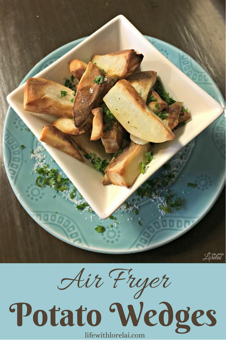 I got a new Air Fryer that I've been dying to try. So, bring on the potatoes! This potato wedges recipe is super easy and delicious. Give it a try!