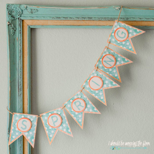 Free Printable Watercolor Spring Banner - I Should Be Mopping The Floor - HMLP 127 Feature