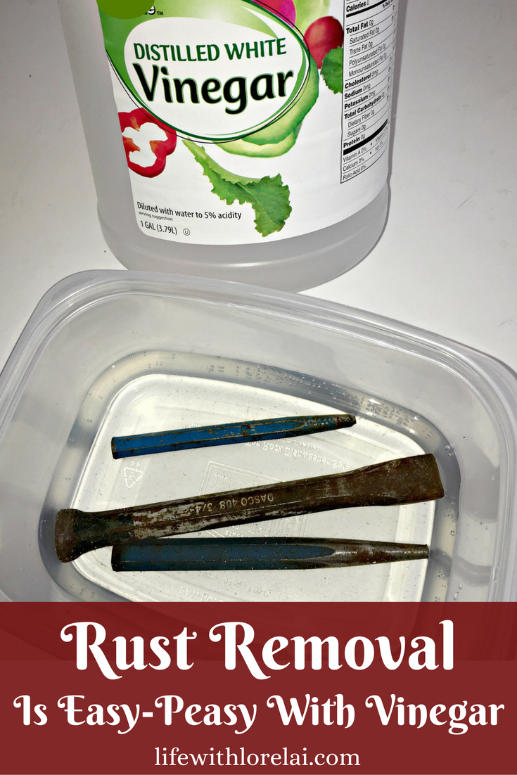 Got rusty tools? Rust removal is quick and easy with vinegar. Learn how to clean-up and de-rust your tools in a couple simple steps.