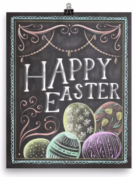 Find creative inspiration for your own Easter Chalkboard DIY, or get a printable! Holidays are always fun for decorating, make this Easter special.