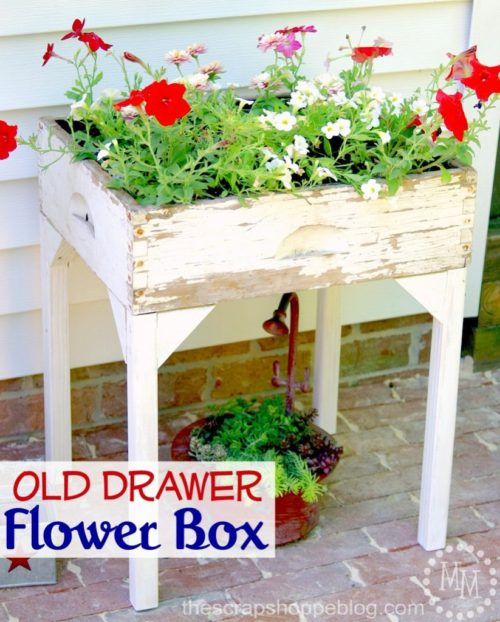Old Drawer Flower Box - The Scrap Shoppe - HMLP Feature 133