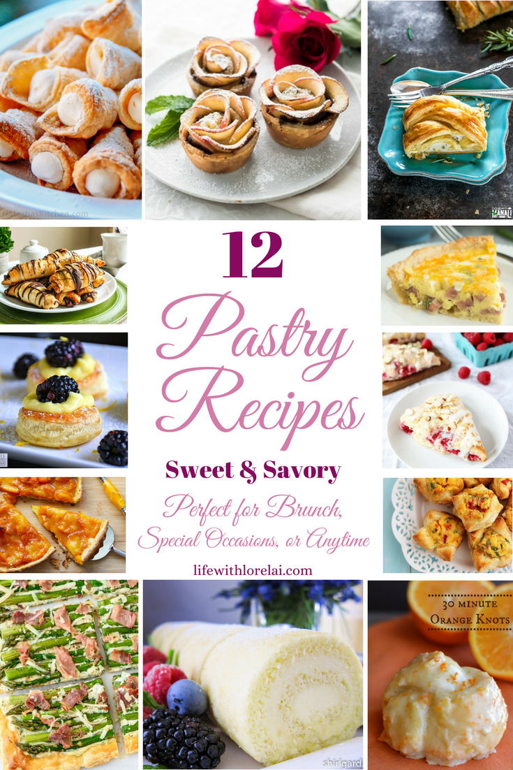 Sweet or savory pastries are perfect for Mother's Day or anytime. Check out this Pastry Recipes roundup for some delicious and easy brunch ideas.