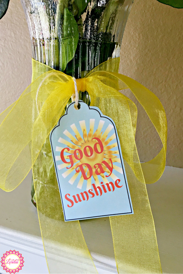 You've heard the old song, Good Day Sunshine. You smile, think of warm days and happy times. Get the free printable decor and gift tags and share summer!