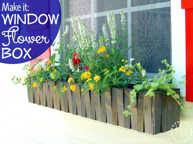 DIY Window Flower Box - The Scrap Shoppe - HMLP Feature 145