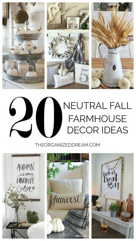 20 Neutral Fall Farmhouse Decor Ideas - The Organized Dream - HMLP 149 Feature