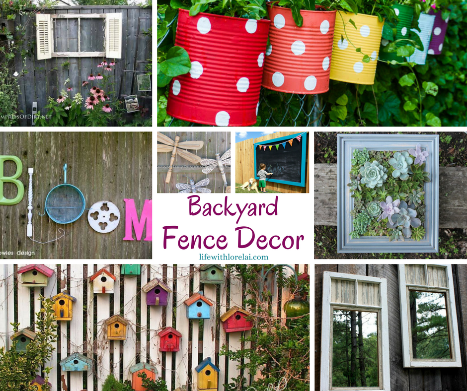 Backyard fence decor creates a personal touch life with for Decorating your backyard fence