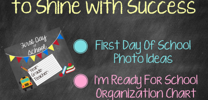School year tips: first day of school photo ideas, organization charts, homework station ideas, and free printables. AD #MomentsShineWithWindex