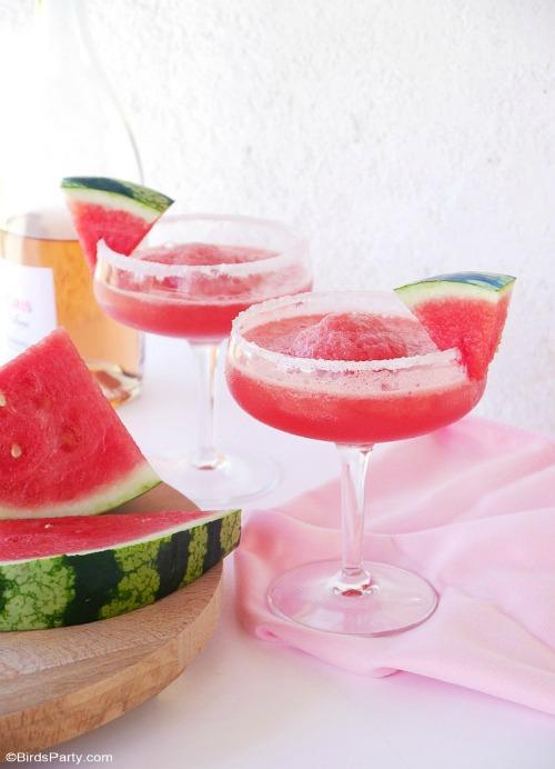 Watermelon & Rosé Granita Cocktail - Bird's Party - HMLP 147 Feature