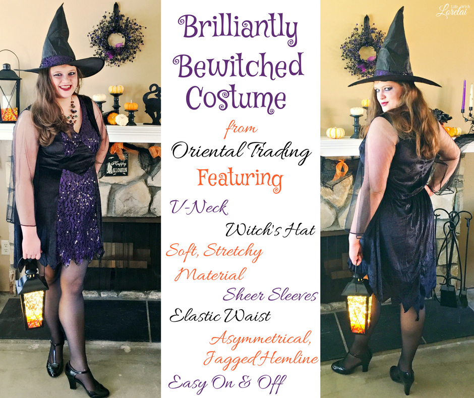 Have a Bewitched Halloween with this amazing costume and a DIY Trick-or-Treat Lantern perfect for taking little ones out or going to a party in style!