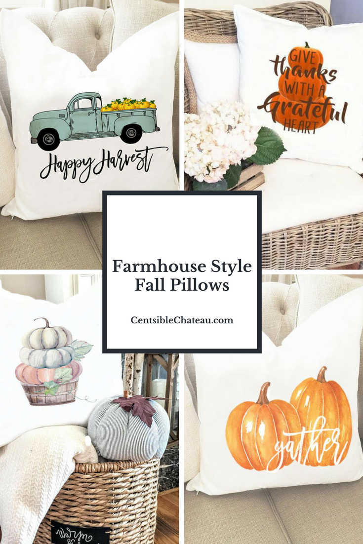 Farmhouse Style Fall Pillows - Centsible Chateau - HMLP 155 Feature