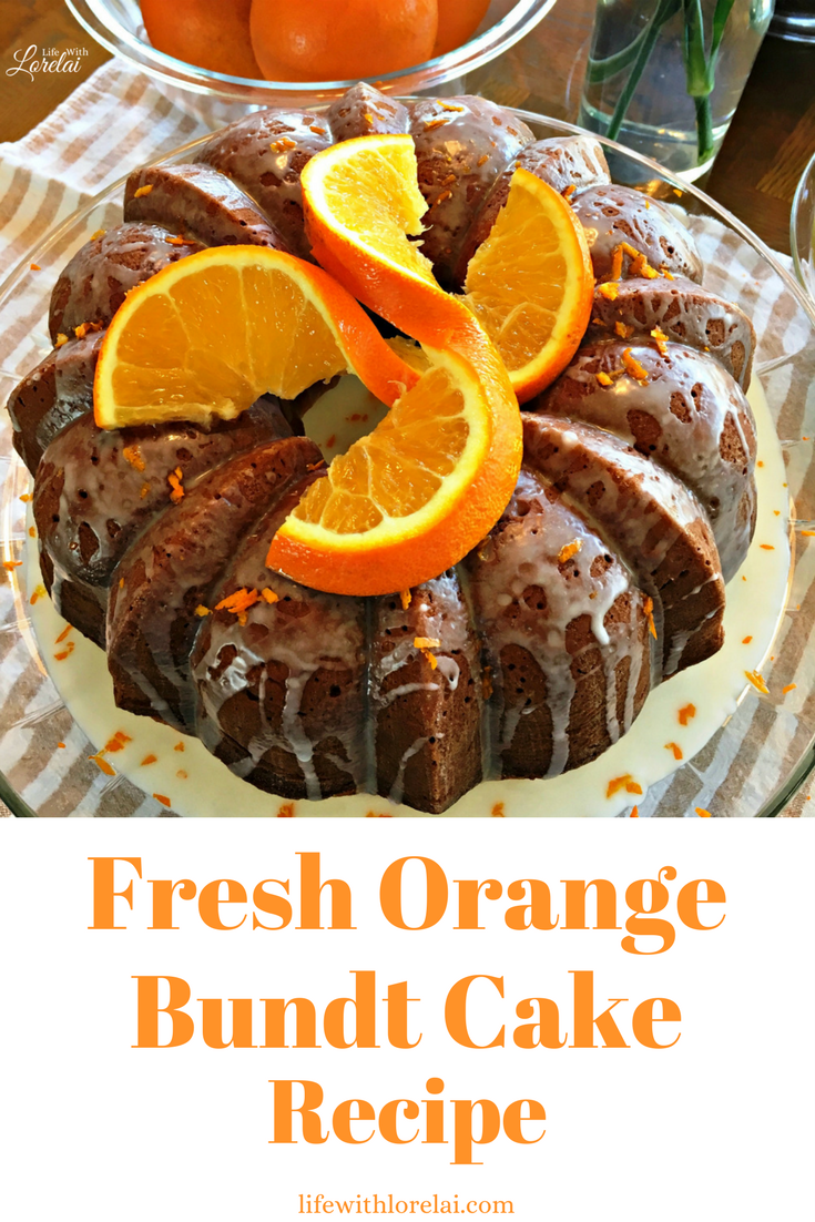 An orange grove baked in a cake! This amazing Orange Bundt Cake is made with fresh oranges - perfect for entertaining or anytime. Get the Recipe.