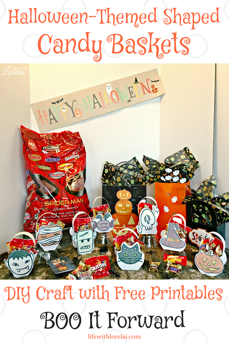 Halloween Candy Baskets Diy Craft To Boo It Forward Life With Lorelai