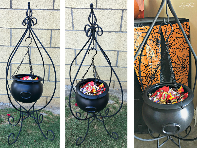 Get creative with your Halloween candy. Check out these frightfully fun and easy Halloween Candy Display Ideas and delight your trick-or-treaters! #ad