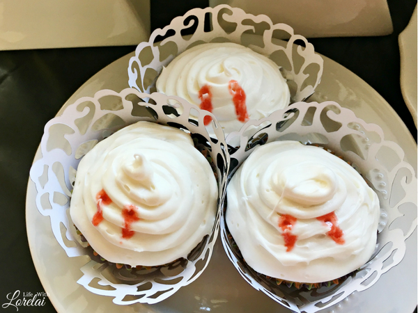 Cherry-filled Vampire Cupcakes are a spooktacular treat for setting a Halloween mood. This recipe is quick, easy, and frightfully delicious!