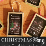 Christmas Song Chalkboard Ornaments – Easy DIY Craft
