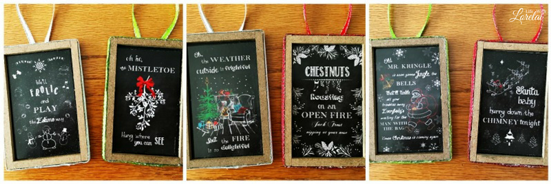 If you love Christmas Music, you'll love these Christmas Song Chalkboard Ornaments. Get a free printable to make your own easy DIY craft. Ornament Exchange.