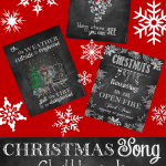 Christmas Song Chalkboards – Printable Decor or Gifts