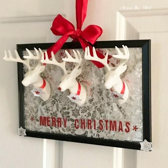DIY Reindeer Wall Art Craft - Across the Blvd. - HMLP 165 Feature