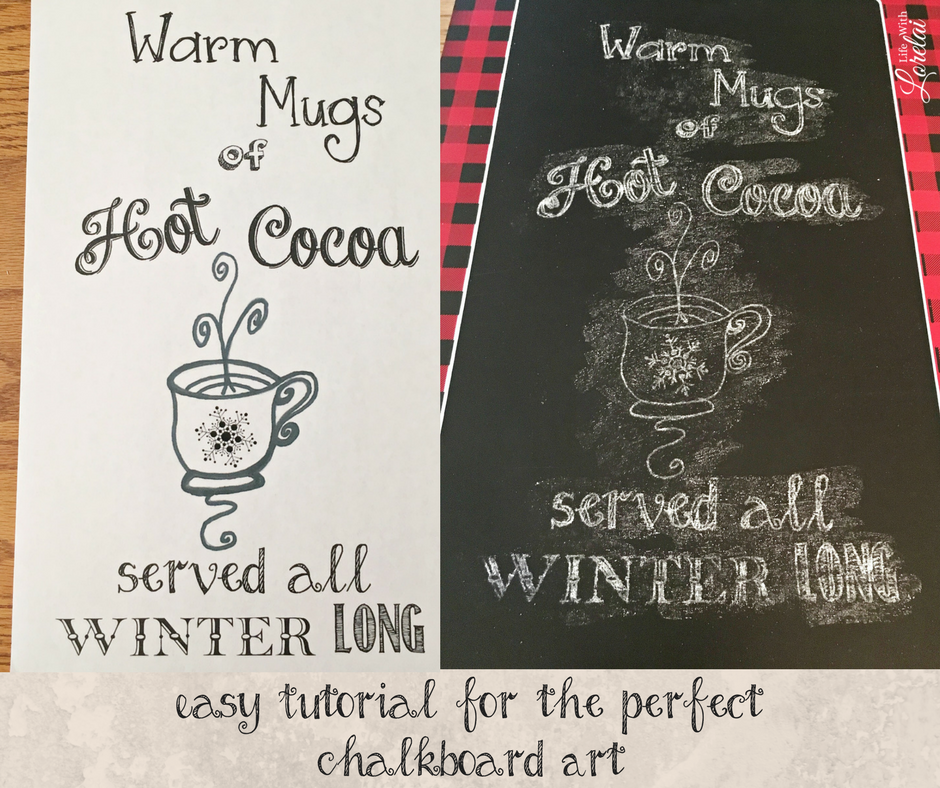 Do you love chalkboard art? Get the chalkboard art tips you need to make beautiful chalkboards for your home - the easy way! Plus get a free design perfect for those cozy winter nights and drinking hot cocoa. Snuggle up with some fun and fabulous winter decor.
