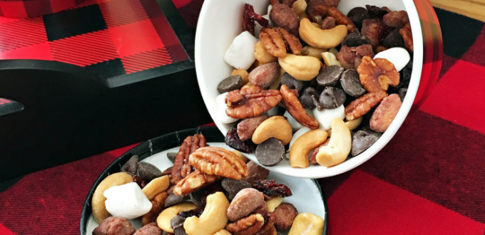 Winter Trail Mix Recipe Party Snack Or On-the-Go Treat