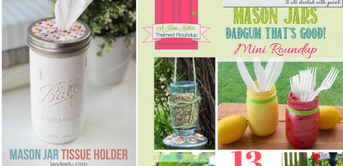Mason Jar DIY Ideas Dadgum That's Good! Mason jars are great for food, decoration, organization and more. Find creative inspiration for your mason jars. Plus link up at Home Matters with recipes, DIY, crafts, decor.