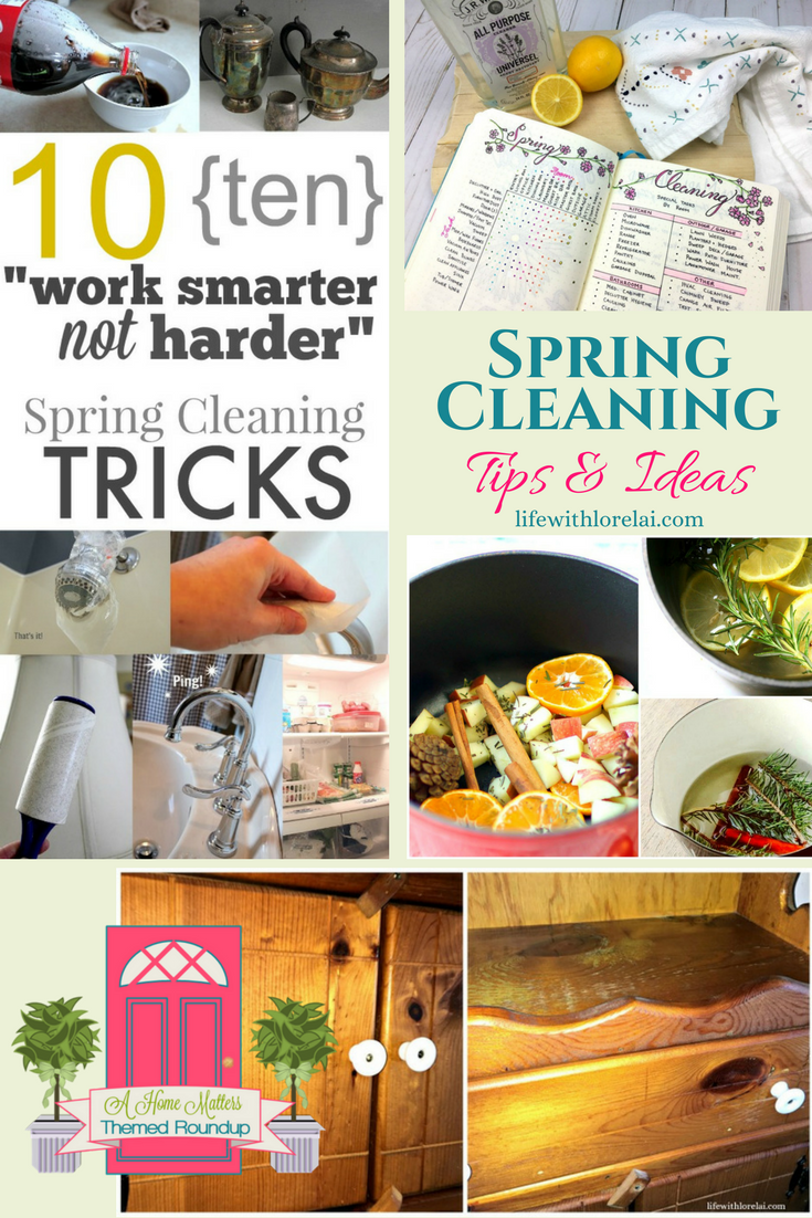 It's spring and it's National Cleaning Week, so we have some fantastic spring cleaning tips and ideas to help you get your home looking its best. Plus link up at Home Matters with recipes, DIY, crafts, decor.