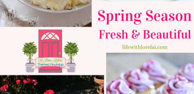 The spring season is just around the corner with all its freshness and beauty. Let your creativity be inspired by these fun and fabulous ideas to make the most of your home this spring. Plus link up at Home Matters with recipes, DIY, crafts, decor.