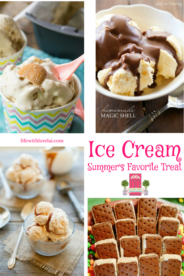 Everybody screams for ice cream! Find recipes and ideas for summer's favorite treat. Plus, link up at Home Matters. #IceCream #HomeMattersParty