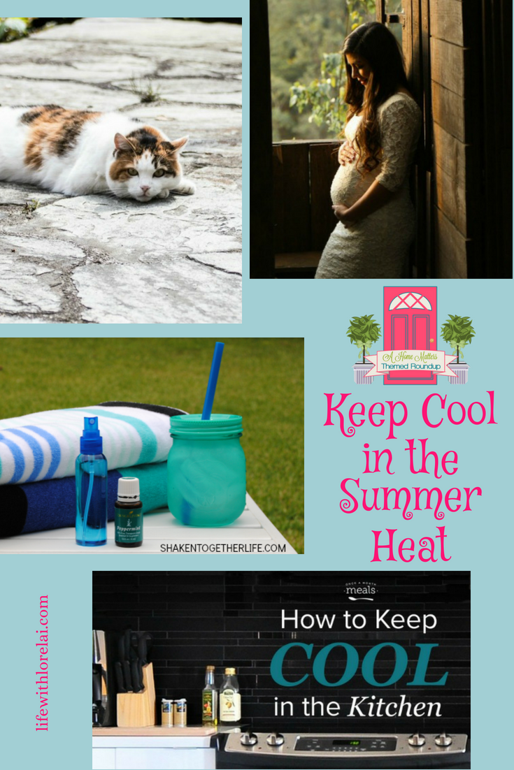 Find great ideas to keep cool in the summer heat. Plus link up at Home Matters with recipes, DIY, crafts, decor. #KeepCool #SummerHeat #HomeMattersParty