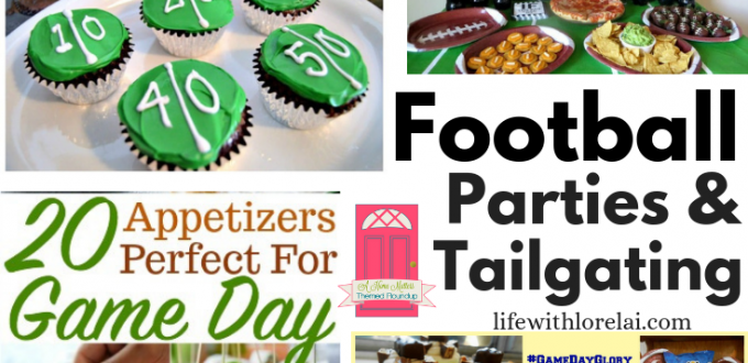 Kick off football parties or tailgating with great ideas for food and fun! Plus, link-up at Home Matters. #FootballParties #Tailgating #HomeMattersParty