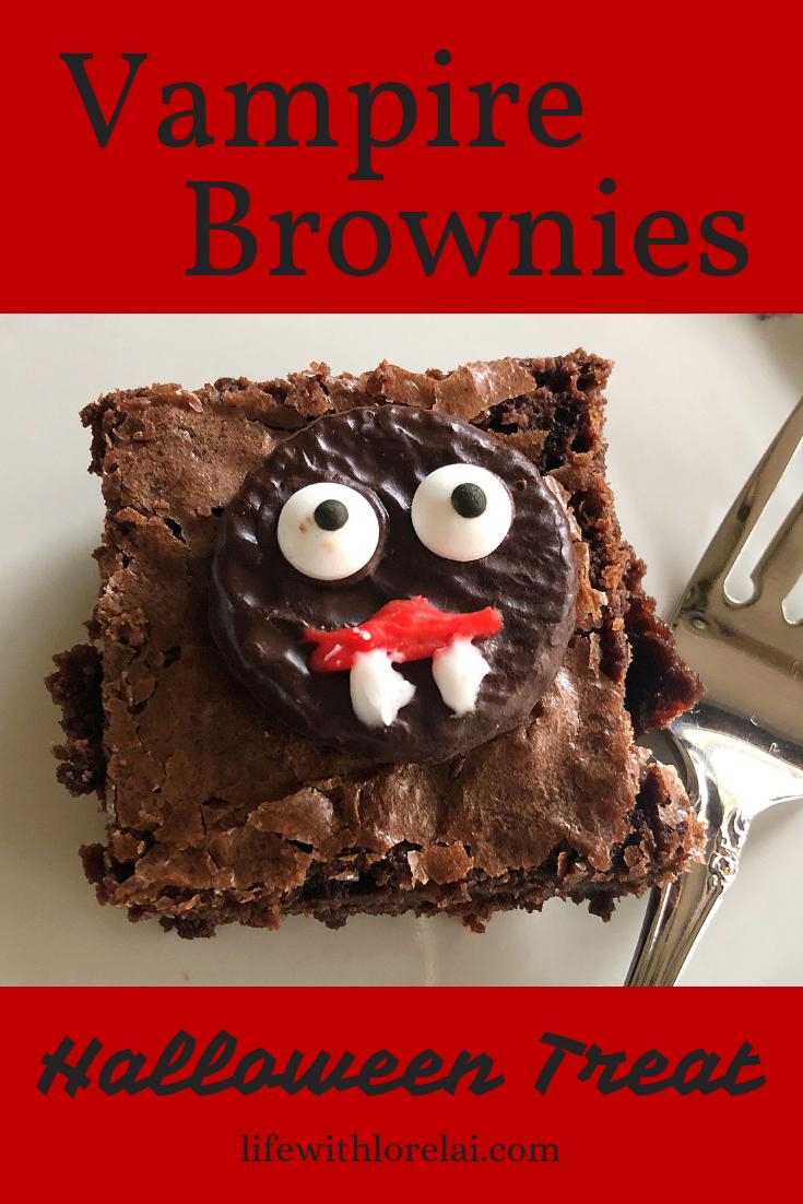 Vampire Brownies Frightfully Fun Halloween Treat