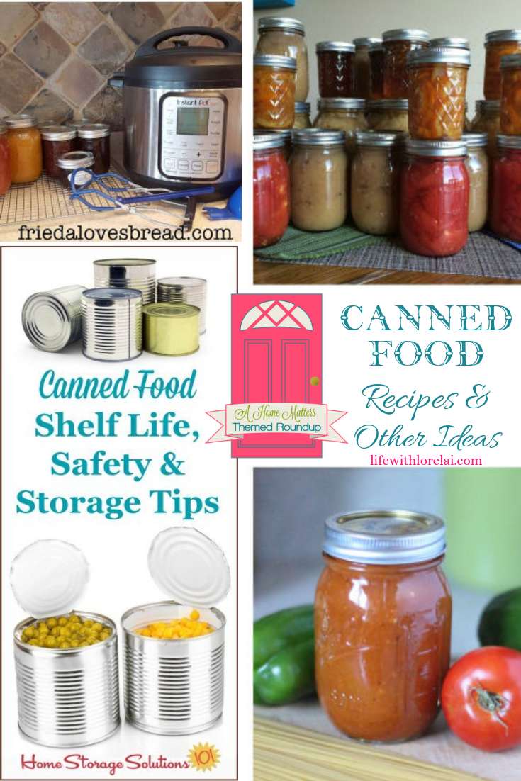It's National Canned Food Month! Find recipes and other ideas. Plus, link up at Home Matters. #CannedFood #CannedFoodRecipes #HomeMattersParty