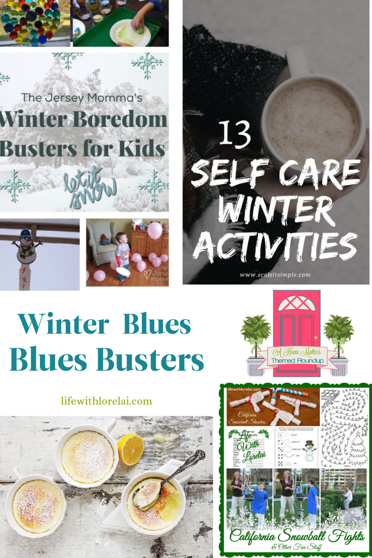 Got the Winter Blues? Check out these awesome blues busters! Plus, link up at Home Matters w/ recipes, DIY. #WinterBlues #BluesBusters #HomeMattersParty
